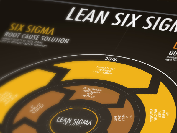 Lean six sigma information design infographic-poster
