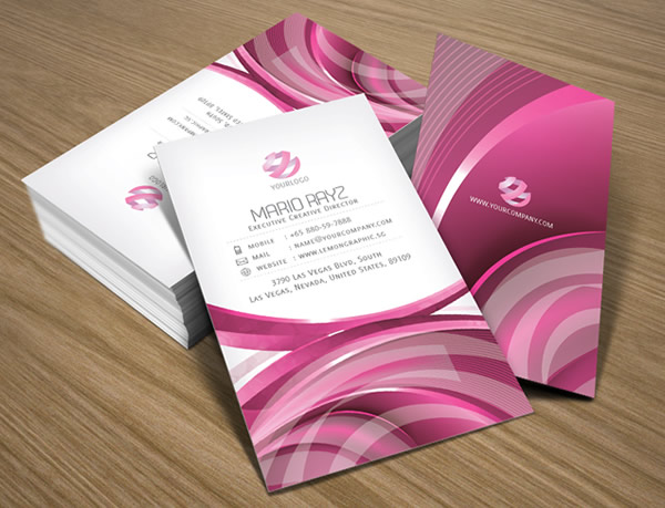 Pink parlour creative business card