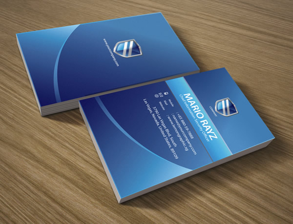 Security Shield corporate Business Card