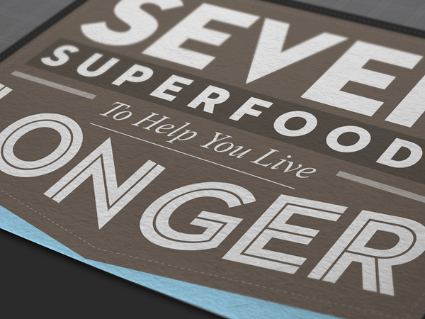 infographic seven superfoods to help you live longer