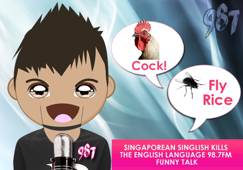 Funny Singlish chat from 98.7FM Animation