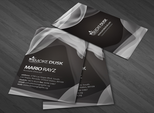 Smoke dust Corporate Business Card