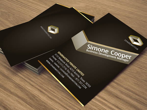 Sparks Motor Corporate Business Card