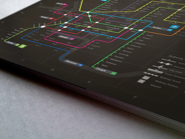 Information graphic // Neon Subway map