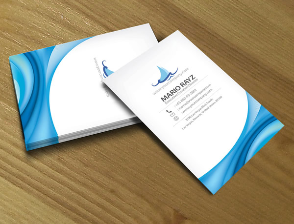 Tsunami Wave Creative Business Card