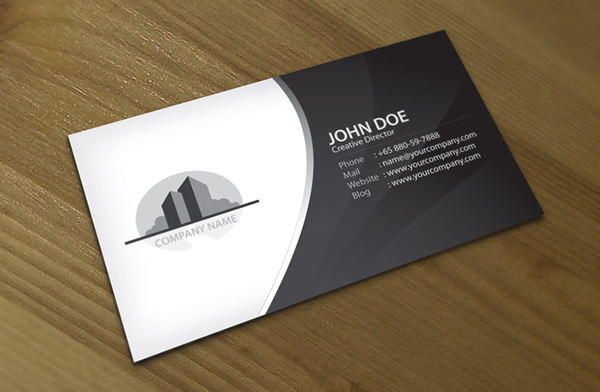 corporate property business card  lemon graphic