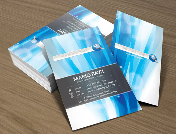 Yahoogle Search Engine Business Card