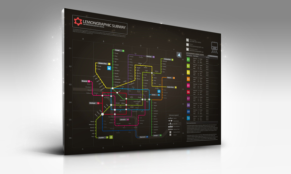 Neon subway map information design