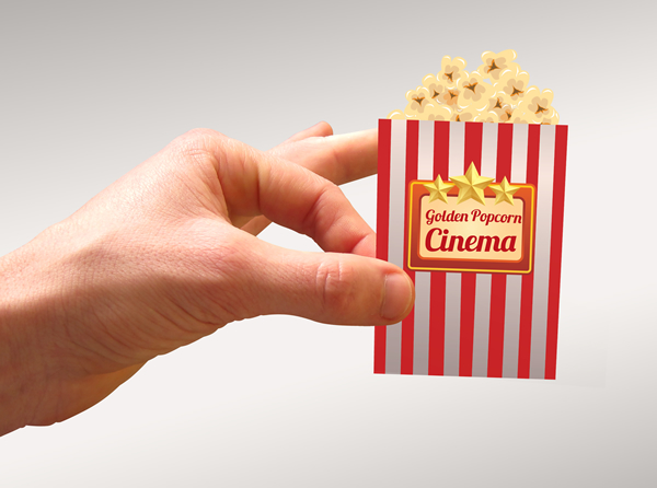 Popcorn cinema business card